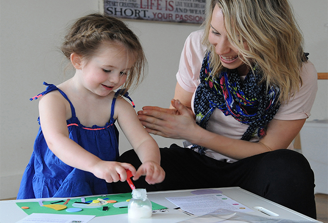 Inspiring creativity is all in a day's work for this mum