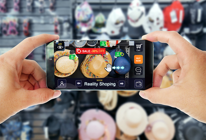 using AR technology on mobile for retail use