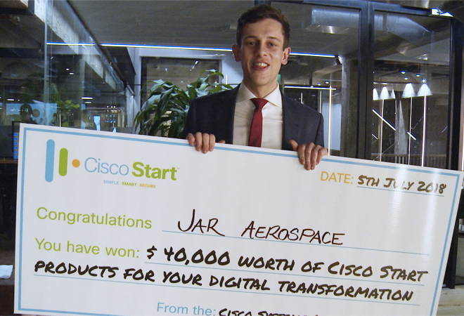Jar Aerospace win the top honour at the Cisco Start Challenge